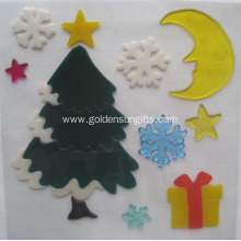 Christmas Gifts Decoration TPR Window Gel Sticker